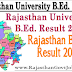 Rajasthan University B.Ed. Result 2017 at official website