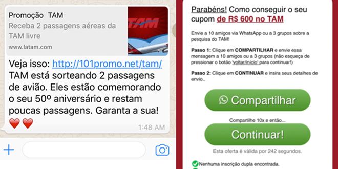 Novo Golpe no WhatsApp oferece desconto em passagens para enganar usuários