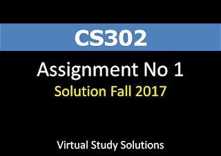CS302 Assignment No 1 Solution Fall 2017