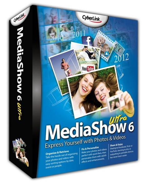 CyberLink MediaShow Ultra 6.0.10415 poster box cover