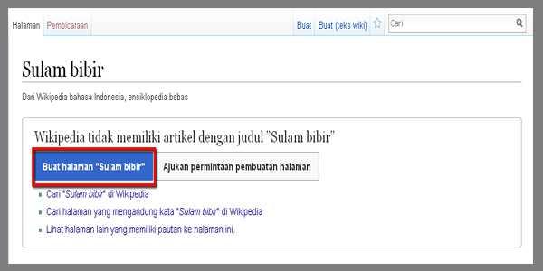 buat halaman wikipedia