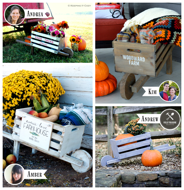 Rustic wheelbarrow virtual party