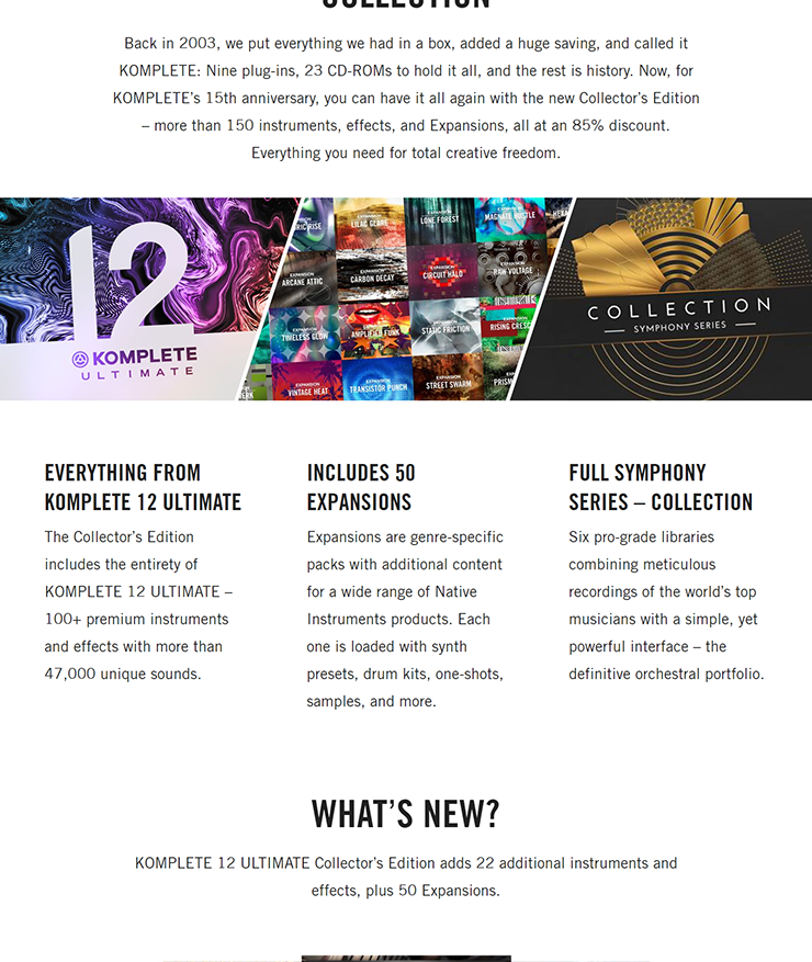 NATIVE INSTRUMENTS - KOMPLETE 12 ULTIMATE Collector's