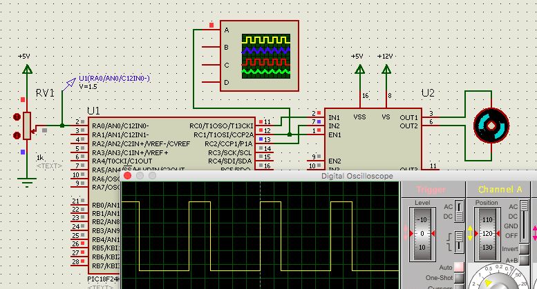 Learning PIC Programing with XC8 Compiler: Motor Speed Control