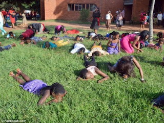 pastor orders church members to eat grass