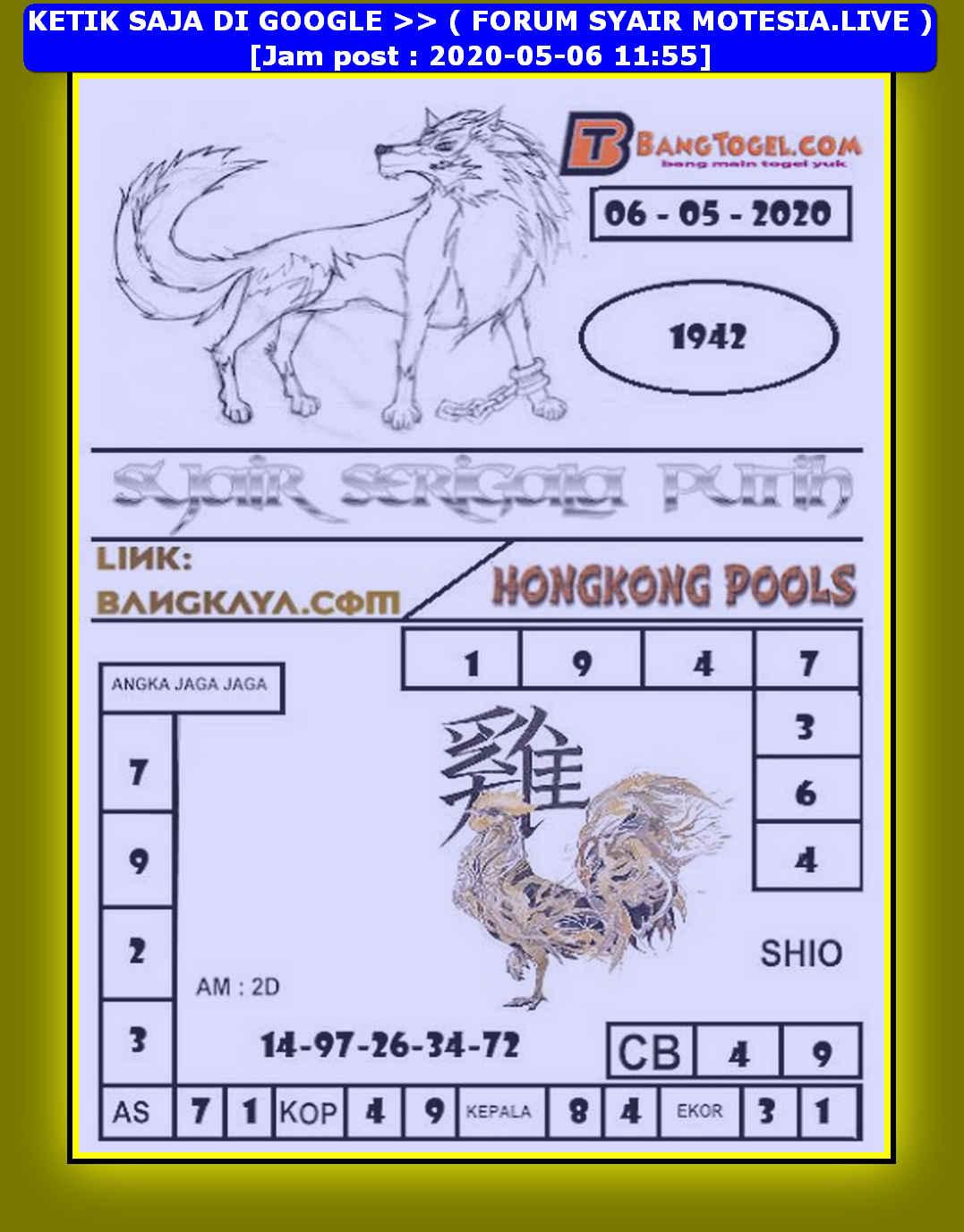 Kode syair Hongkong Rabu 6 Mei 2020 236