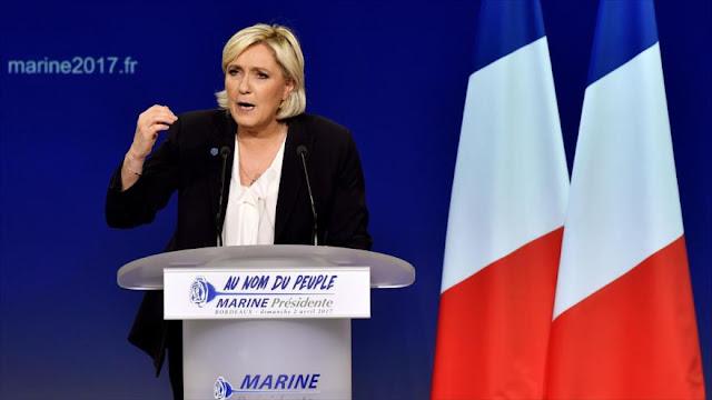 """Le Pen tacha el euro de """"un cuchillo en costillas"""" de franceses"""