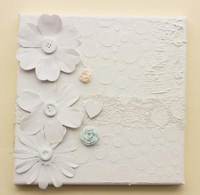 white on white canvas art