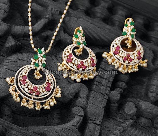 Classy Diamond Pendant by Navrathan Jewellers