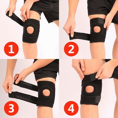 putting on ultraflex knee brace