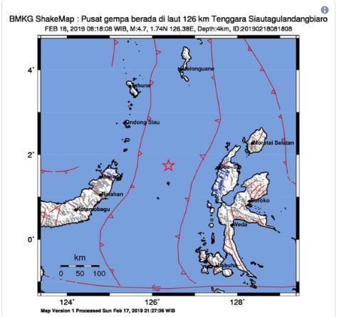Breaking News! Setelah Merapi, Kini Gempa M 4,7 Guncang Sulawesi Utara
