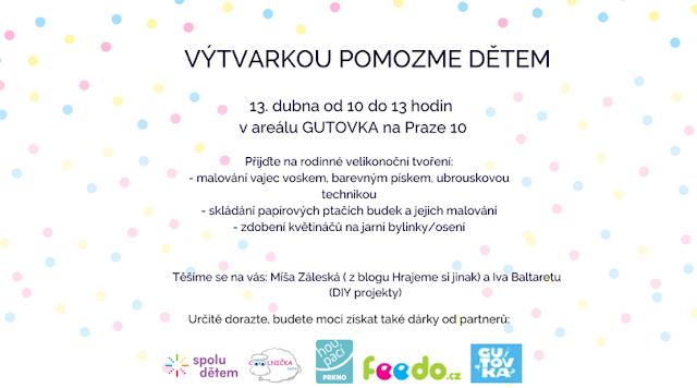 výtvarný workshop na téma velikonoce, tvoření a malování kraslic na Praze 10 na Gutovce