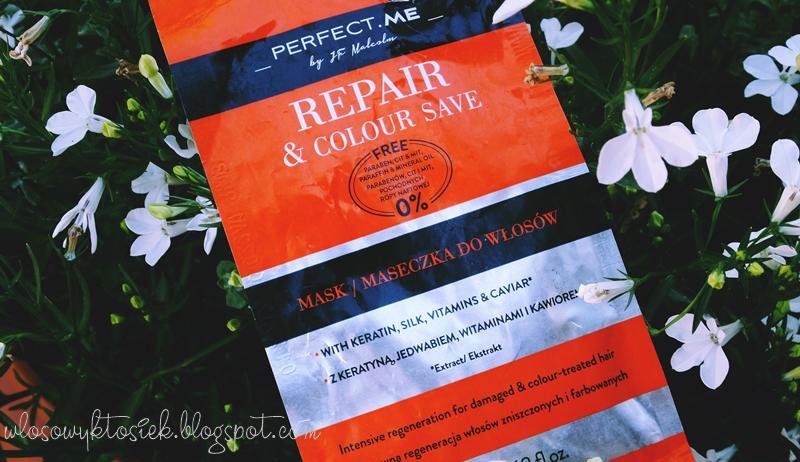 Recenzja #10 maseczka z Biedronki, Perfect Me ~ Repair & Colour Save (pomarańczowa) - podsumowanie trzech maseczek