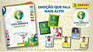 """Compre o álbum oficial da Panini da """"Copa América 2019"""" na Banca Vanildo"""
