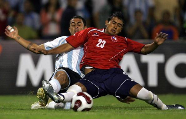Argentina y Chile en partido amistoso, 18 de abril de 2007
