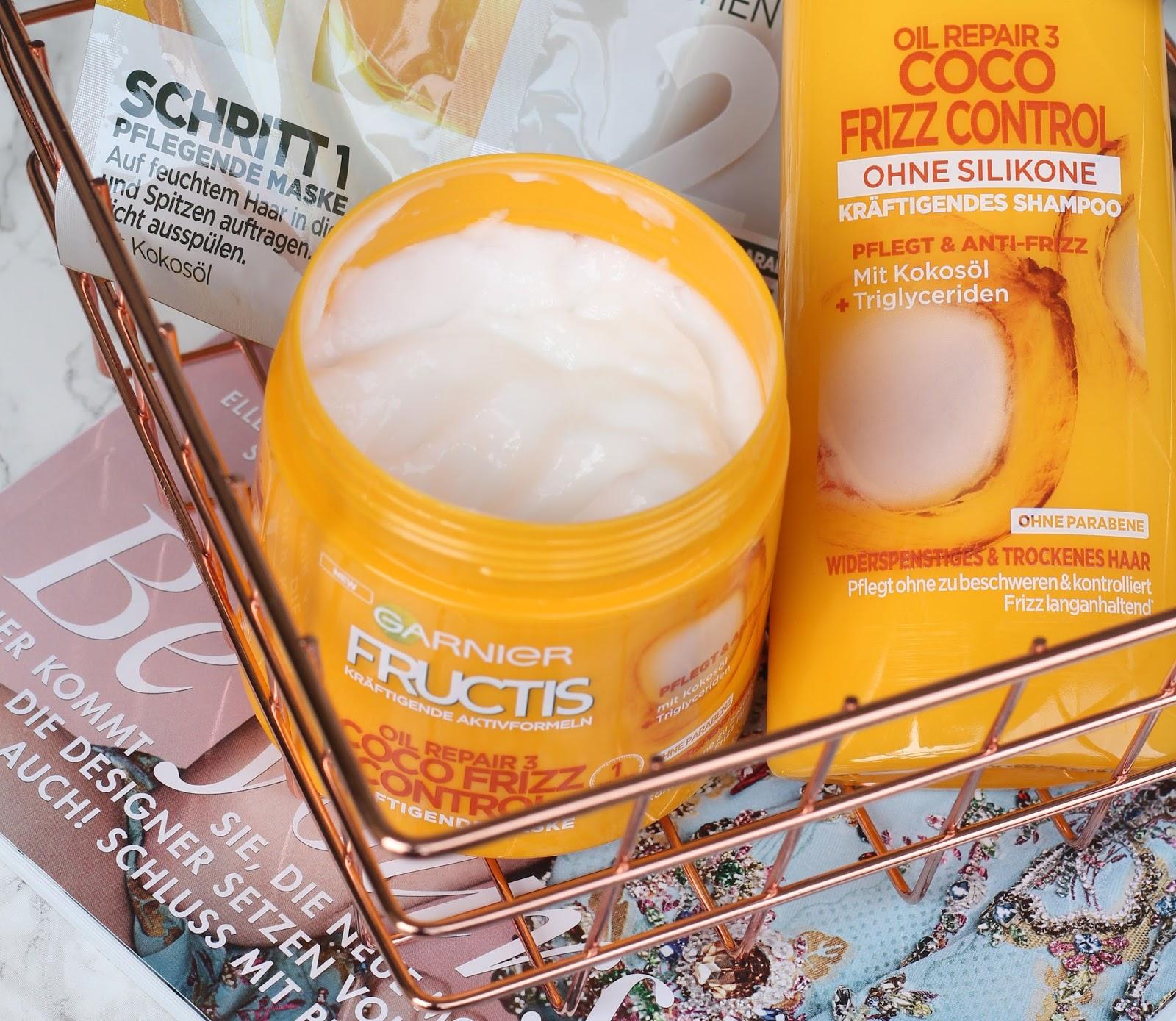 garnier fructis oil repair 3 coco frizz control review