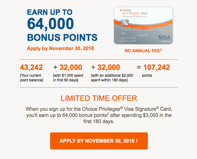 Best Offer: Targeted Barclay Choice Privileges Visa Credit Card Up
