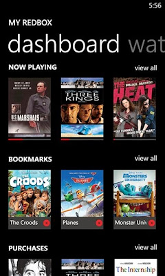 Redbox Instant by Verizon for Windows Phone