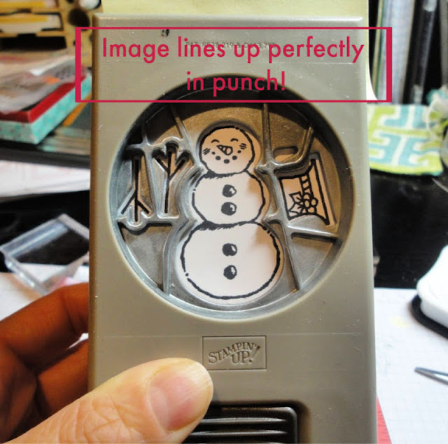 Stamp Positioner Punch Trick - Step 4 - images line up perfectly in your punch