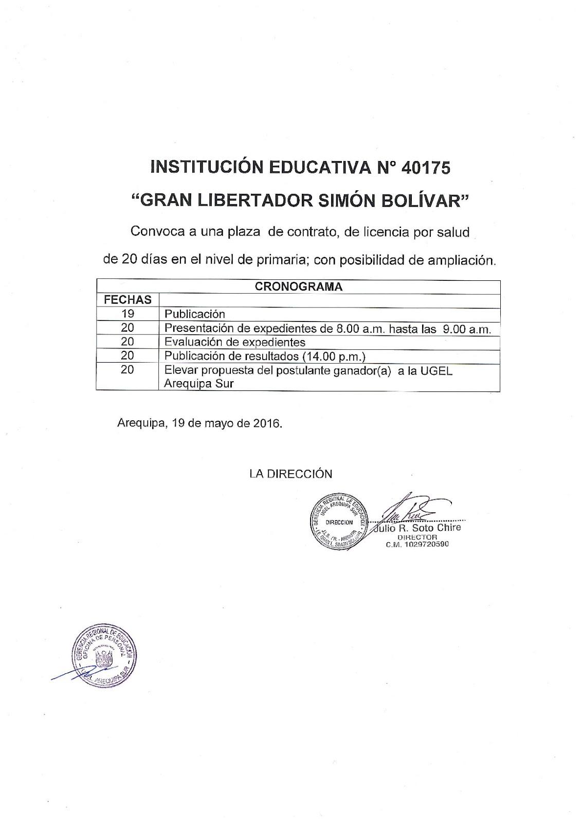 Plaza contrato docente 2016 primaria noticias m s for Plazas docentes 2016