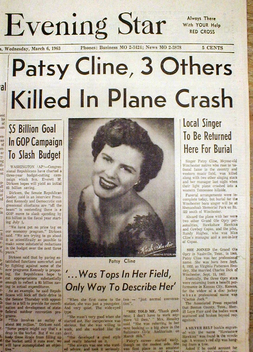 Patsy Cline Plane Crash Body Patsy Cline Death Auto...