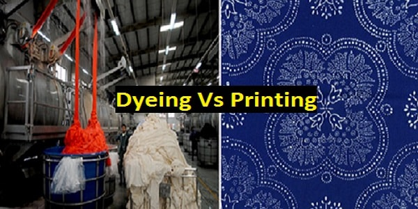 Dyeing vs printing in textile sector