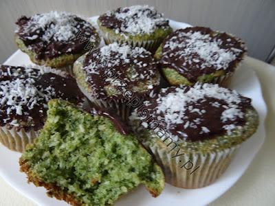 Muffinki szpinakowo-kokosowe