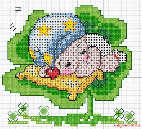 Hobby lavori femminili ricamo uncinetto maglia for Idee punto croce bimbi