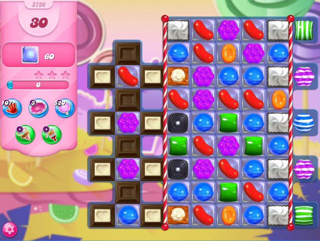Candy Crush Saga level 3736