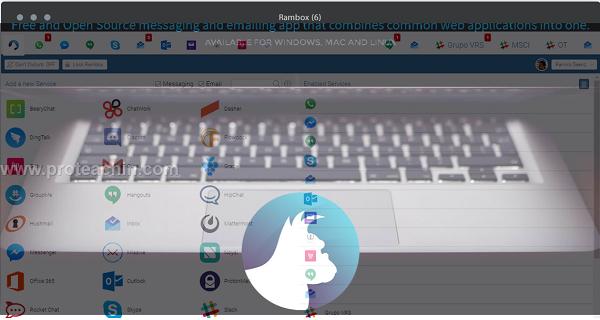 تطبيق Rambox لإستعمال جميع تطبيقات الدردشة من خلال تطبيق واحد على الكمبيوتر