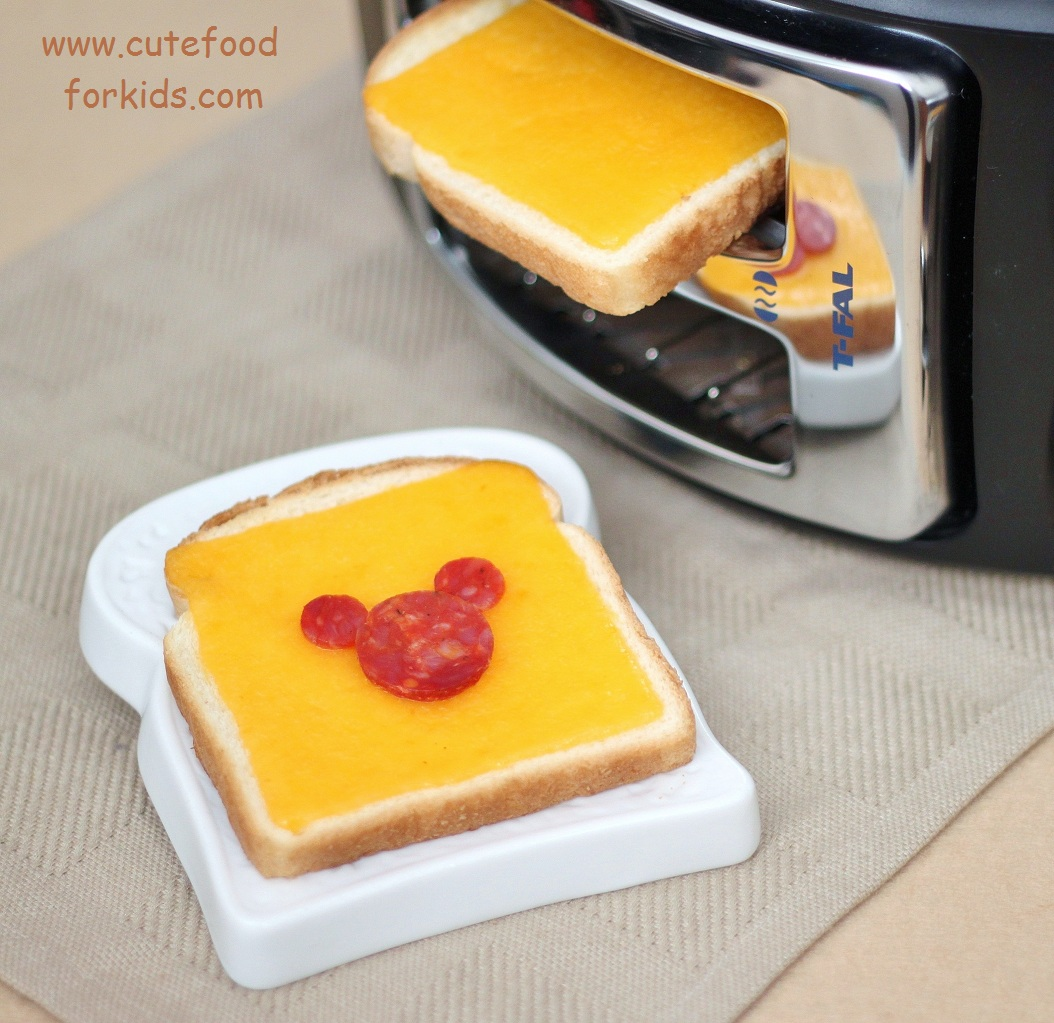 Cute Food For Kids Turn Toaster Sideways to Make Grilled Cheese