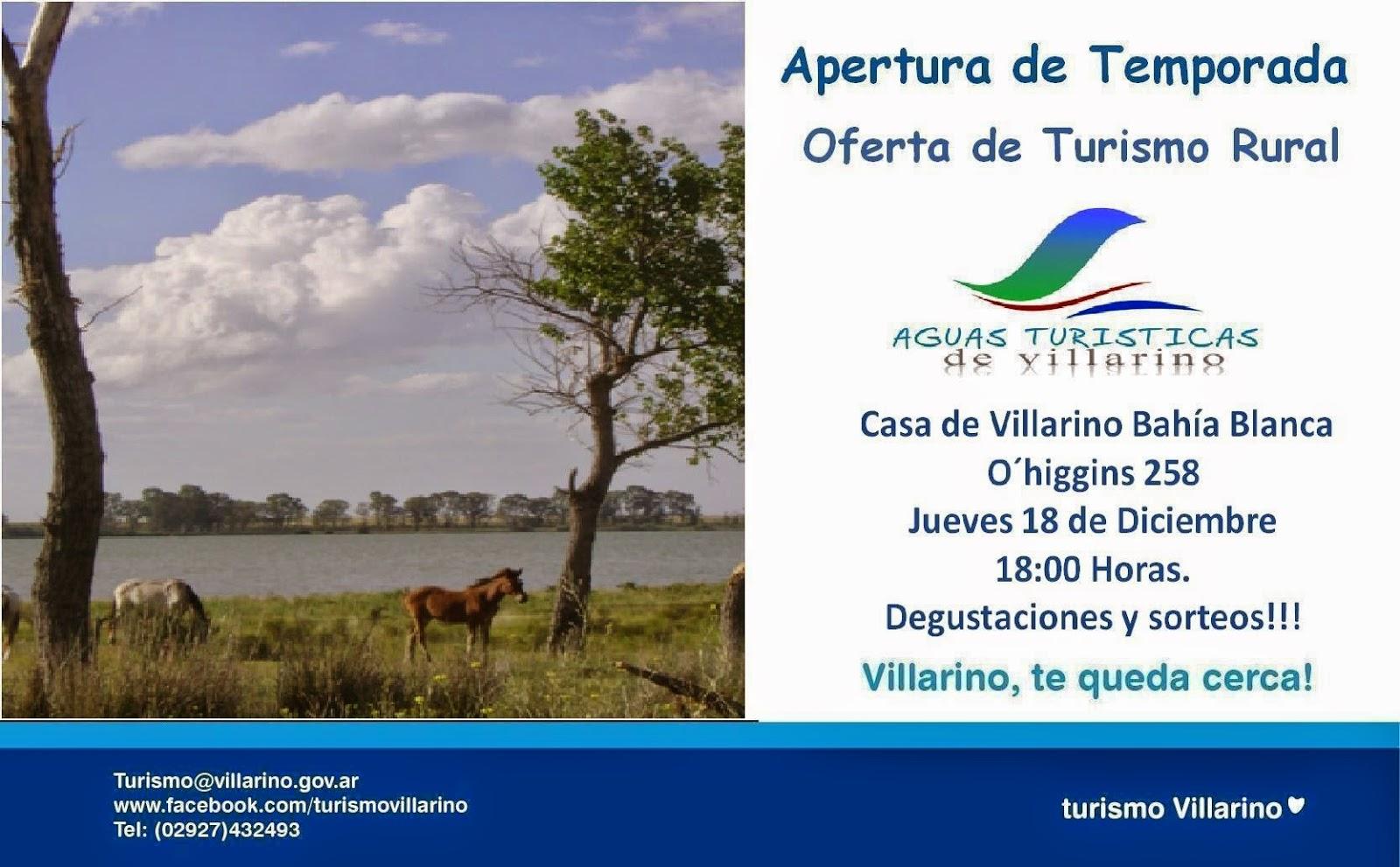 5d90a4da5365e PRESENTARÁN LAS OFERTAS DE TURISMO RURAL DEL SUR DE VILLARINO