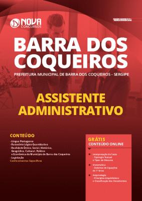 Apostila Prefeitura de Barra dos Coqueiros 2020 Assistente Administrativo Impressa e PDF Grátis Cursos Online