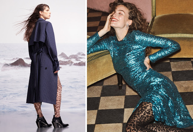 Девушки в платьях и леопардовых колготках