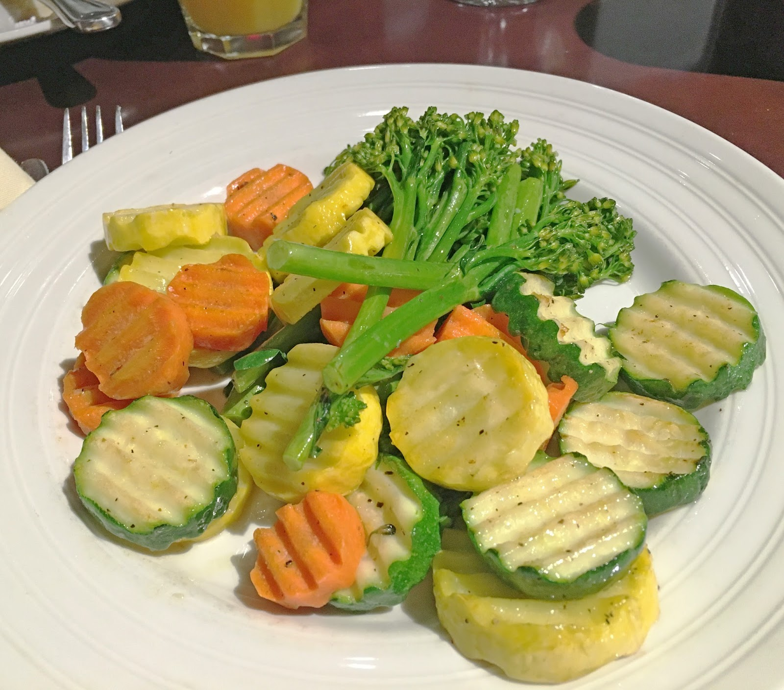 vegetables for breakfast at the hotel in Fort Worth, Texas