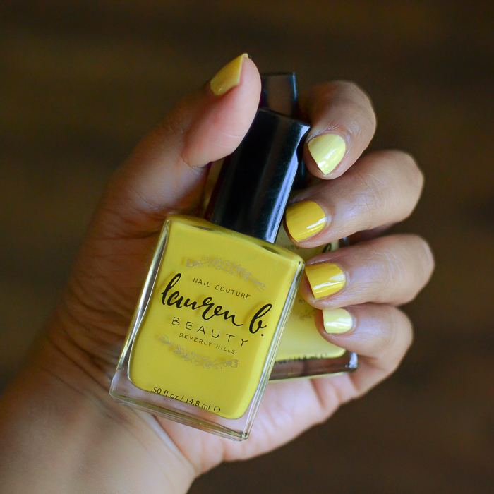 Lauren B Beauty Nail Couture - Coachella Valley Sun -  Zuma Beach Bum - Summer Yellow Polish