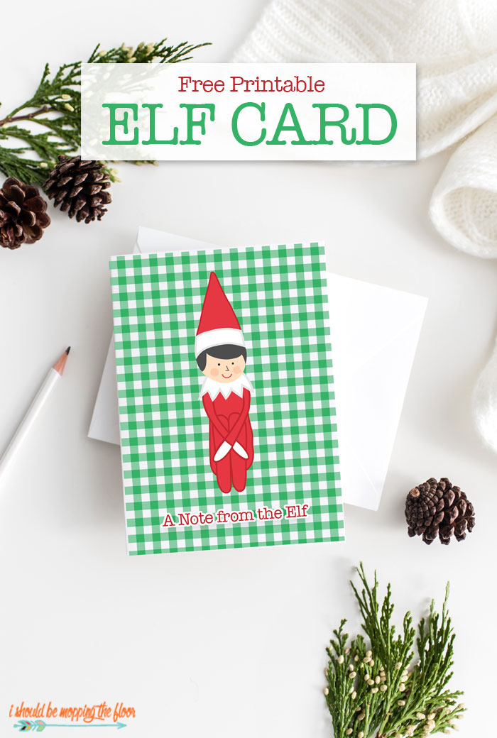 Printable Elf Card