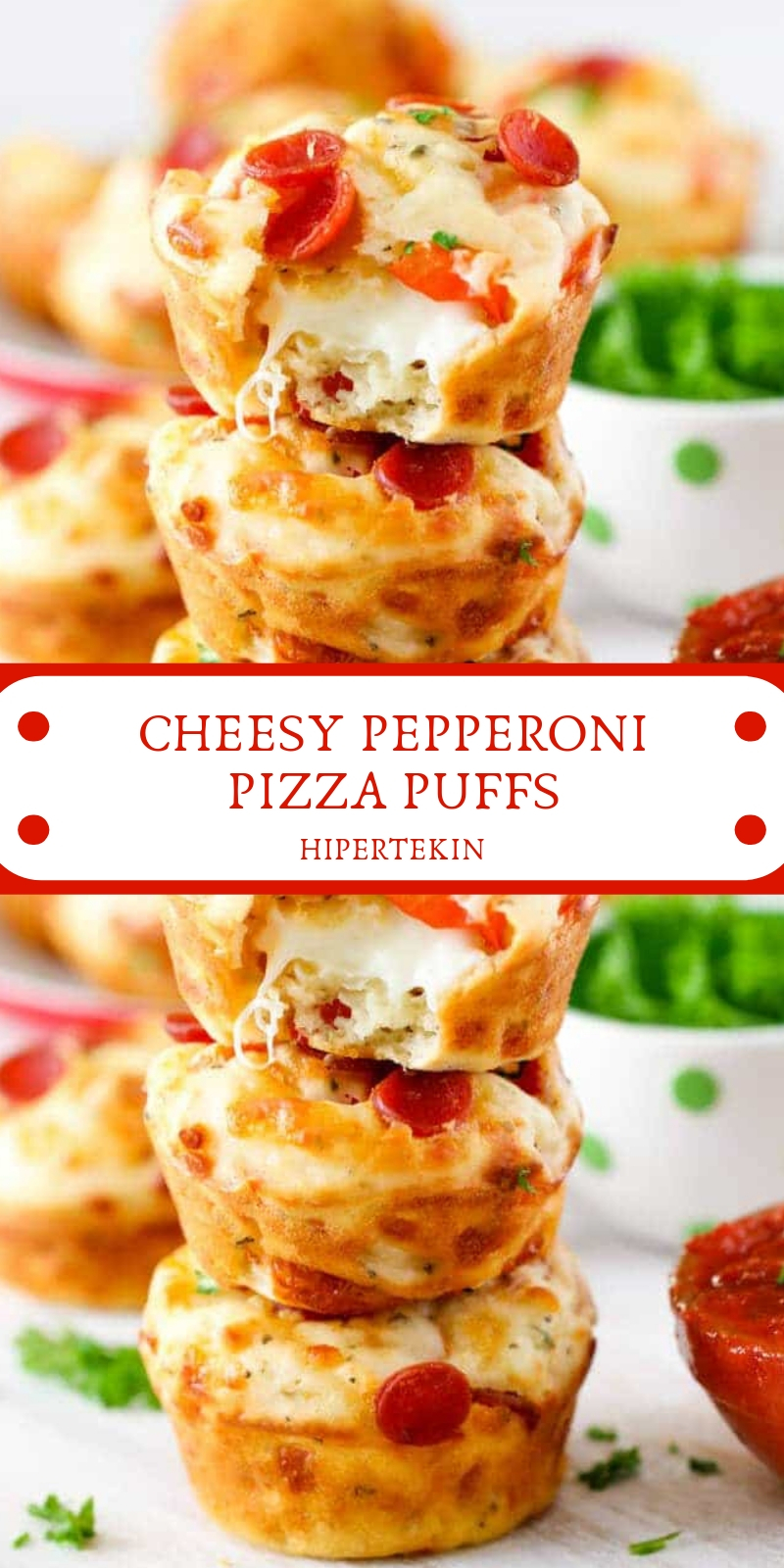 CHEESY PEPPERONI PIZZA PUFFS