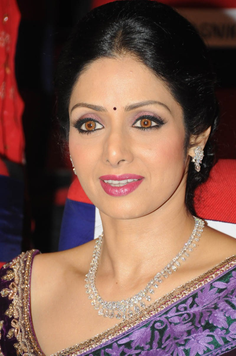 Sri Devi Latest Stills In Blue Saree