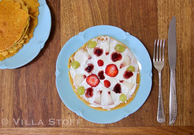 Frühstückspizza • Rezept für Socca aus Kichererbsenmehl