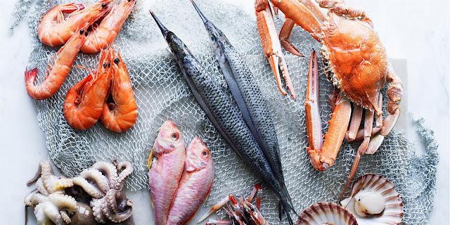Морская диета: рыба, морепродукты, водоросли.