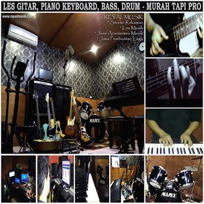 Kursus / Les Gitar, Piano Keyboard, Bass, Drum Jakarta Timur, Terbaik Tapi Murah