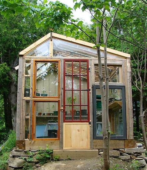 Dishfunctional designs greenhouses made with salvaged windows for Bhg greenhouse