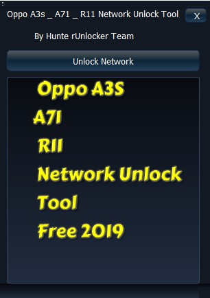 Oppo A3S A71 R11 Network Unlock Tool Free 2019 - All In One
