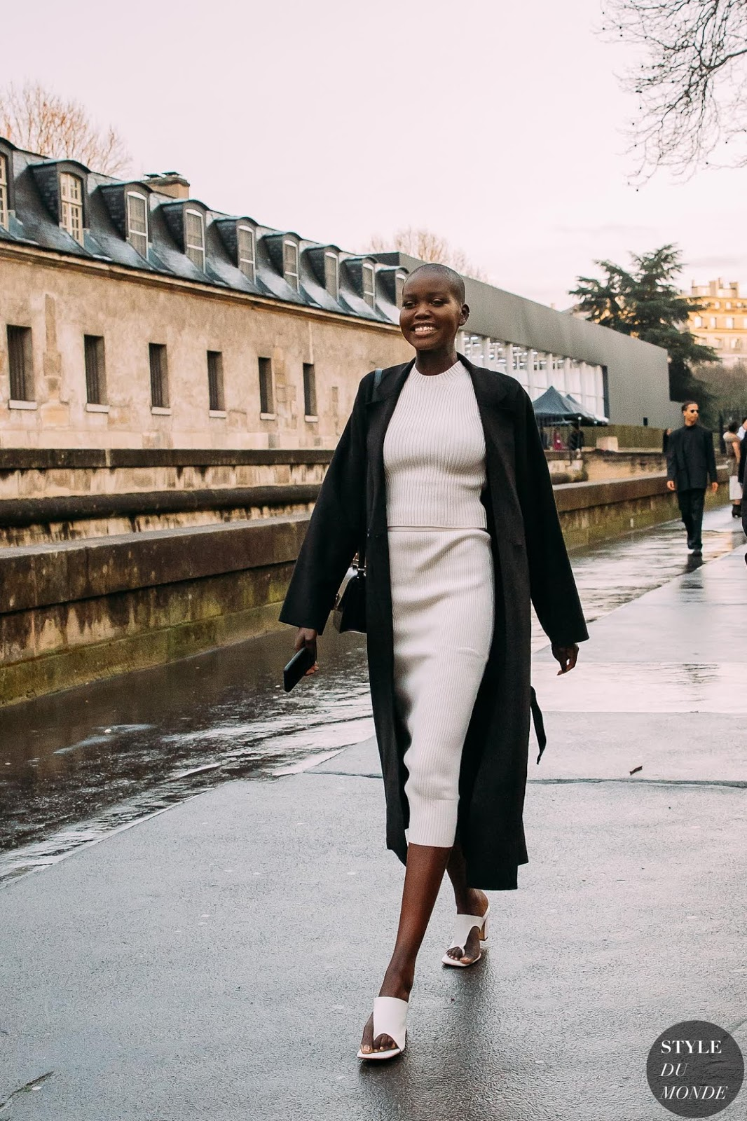 We're All About Adut Akech Bior's Knitted Look