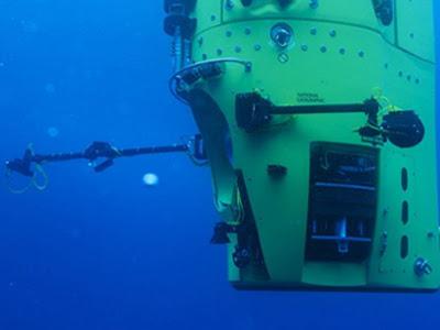 deepsea challangerin ilk dalış metreleri