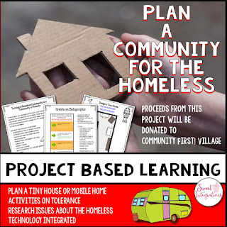 After researching the different causes and effects of homelessness, students will plan a community for the homeless with services and activities. This PBL unit focuses on a real-world problem, while incorporating 21st century skills.