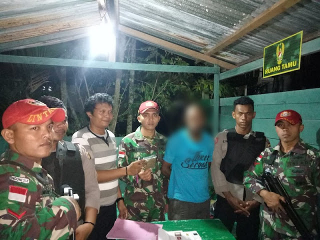 Lagi, Satgas Yonif Para Raider 501 Kostrad Tangkap Pengedar Narkoba di Wilayah Perbatasan