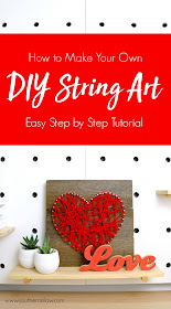 Step by Step Tutorial - How to Make Your Own DIY String Art - Nail Art using Recycled Wood Pallet Boards