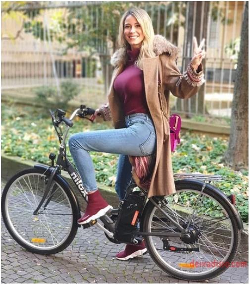 Derepende me deu vontade de andar de bike